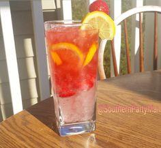 Sparkling Strawberry Lemonade! 1/2 oz Sweet Revenge, 1 1/2 oz Svedka Strawberry Lemonade Vodka, 1 oz Strawberry syrup, 3 oz Lemonade and top with Lemon Lime soda. Optional: Lemon slice and strawberry garnish