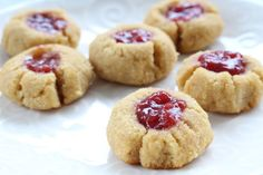 Coconut Flour Raspberry Jam Cookies. These gems are super easy to make and gluten-free!