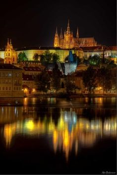 Prague by night photo by Alin Balanean. I so want to see the incredible architecture in Prague! Places Around The World, The Places Youll Go, Places To See, Around The Worlds, Corfe Castle, Visit Prague, Prague Czech Republic, By Train, Central Europe