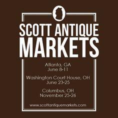 Upcoming shows for 2017! #antiqueextravaganza #antiques #scottantiquemarkets #scottantiquemarket #upcoming #atlanta #columbus