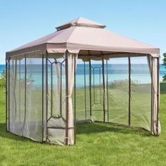 Hampton Bay 10 Ft X 10 Ft Outdoor Patio Cottleville Gazebo Gfs00744a The Home Depot In 2020 Canopy Outdoor Gazebo Replacement Canopy