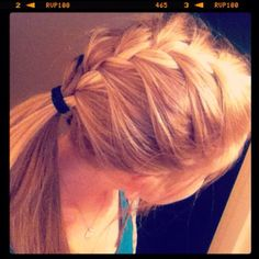 French braid pony tail. I wish I had the patience to do this to my hair!