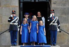 El azul fue el color elegido para las nuevas princesas.