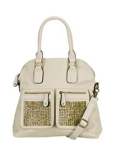 metallic stud pocket satchel (original price, $49) available at #Maurices