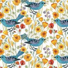 Poppies and Birds- I adore this!!