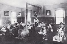 Dora Nye teaching in North Falmouth school 1906.