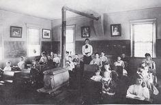 Dora Nye teaching at North falmouth school 1906.