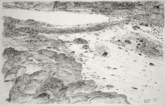 Shuvinai Ashoona, Low Tide, 1994, Fineliner pen on ivory wove paper, 33 x 51.5 cm, National Gallery of Canada, Ottawa. #ArtCanInstitute #CanadianArt Fineliner Pens, Canadian Art, Detailed Drawings, Ottawa, Surrealism, Book Art, Muse, Ivory, Canada