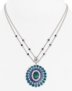 """Carolee Regal Reflections Two-Row Pendant Necklace, 16"""" 