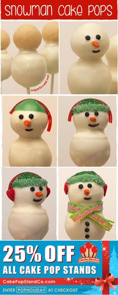 How To Make Snowman Cake Pops Step-By-Step
