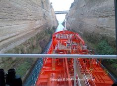 Transiting The Corinth Canal
