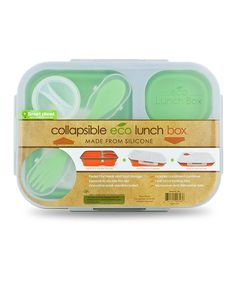Collapsible Green Large Eco Lunch Box