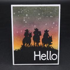 Decor, stencil, Scrapbooking, Cowboy - 2