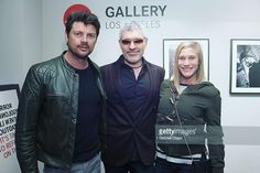 """Dennys Ilic - """"The beautiful subject of a number of images Katee Sackhoff turned up with her handsome beau Karl Urban!  So thrilled the came to my exhibition and saw the…"""""""
