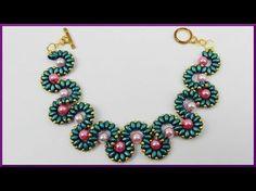 DIY   Perlenring aus Twin beads   Schmuck basteln   Beaded ring with bicones   Jewellery - YouTube