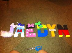 mickey mouse clubhouse themed letter!!