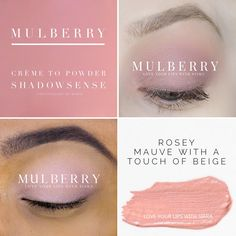 Mulberry Crème to Powder ShadowSense - Mi Beauty Spot Makeup Collage, Senegence Makeup, Senegence Products, Shadow Sense, Love Lips, Makeup Supplies, Long Lasting Makeup, Beauty Tutorials, Best Anti Aging