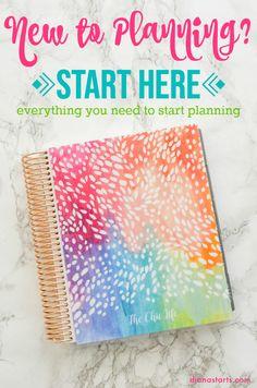 Start Planner, Planner Tips, Goals Planner, Planner Pages, Happy Planner, Printable Planner, Planner Stickers, School Planner, Bill Planner