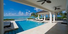 Sun Salutations Villa - large pool area with loungers