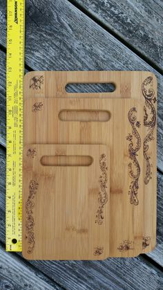 Woodburned Bamboo Cutting Boards by LongmorePyrography on Etsy
