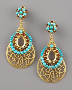 Gold+Scrollwork+Earrings+by+Jose+&+Maria+Barrera+at+Neiman+Marcus.