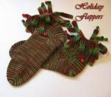 """""""Flapper Socks pattern"""" - I LOVE these socks, I wear them every Christmas! You can definitely hear me approaching with the bells! LOL, of course, you do not have to include bells. The step by step directions for the 'flaps' are on my site. ENJOY!"""