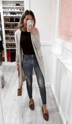Cute casual long Cardigan fall sweaters women - New Site Winter Outfits For School, Cute Winter Outfits, Winter Fashion Outfits, Trendy Outfits, Autumn Fashion, Casual Winter, Spring Outfits Women Casual, Spring Fashion, Summer Outfits