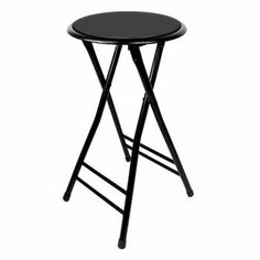 Barstools 24 Inch Cushioned Folding Stool - Trademark Home - Set of- Holds up to stool chair step stool chair bar Having some friends over but limited on seating? Looking for an inexpensive way to Folding Bar Stools, Tall Bar Stools, Bar Chairs, Room Chairs, Island Stools, Folding Chairs, Patio Chairs, Counter Stools, Camping Chairs