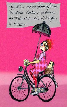 Fahrradfahren Life Philosophy, Albert Einstein, Pin Tool, Wise Words, Verses, Smileys, Elsa, Funny Pictures, Dolls