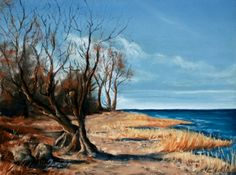 beach of wischendorf, Pastell painting from Michael Frahm