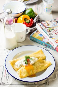 I've mentioned before that I'd like to have postings about various breakfast ideas for your weekends. So here it is.. Breakfast#1: Savory Crepe Despite the fact that I love making desse…