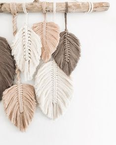 I'm totally ready for fall and winter and my house is full of all the new fall macramé that's coming to my Etsy shop! But you can always DM… Macrame Wall Hanging Patterns, Macrame Art, Macrame Design, Macrame Projects, Macrame Patterns, Macrame Jewelry, Rope Crafts, Diy Home Crafts, Yarn Crafts