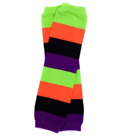 Thick Halloween Stripe Leg Warmers