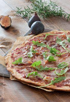 Fig and Prosciutto Flatbread Pizza - Against All Grain
