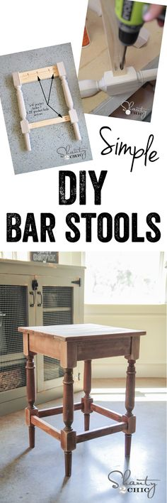 LOVE these DIY Bar Stools... Free plans for tall or short stools! SO EASY! www.shanty-2-chic.com