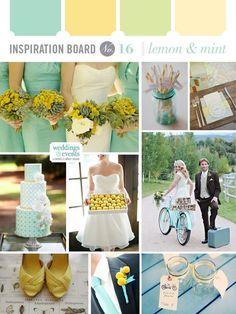 Mint wedding color board