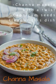 Protien rich chickpeas/garbanzo dish with a twist. Channa masala or chole masala – chickpeas cooked in a tangy onion-tomato sauce with a special blend of spice mix. This is my family recipe and it has some interesting You can pair this with rice or roti or any kind of flatbread.