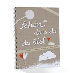 Hochzeitsgästebuch SCHÖN, DASS DU DA BIST m.Fragen Cover, Books, Wedding, Guestbook, Design, Paper Mill, Good Books, The Last Song, Stationery