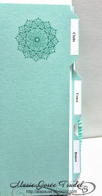 Separators made with the Envelope Punch Board, A La Pause: Livre à Intercalaires faits avec la Planche à Enveloppes, Marie-Josée Trudel, Stampin' Up!