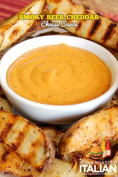 Smoky Beer Cheddar Cheese Sauce