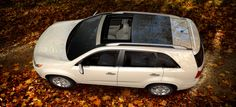 Crossover Sunroof | White | 2013 Kia Sorento – Shown here in Snow White Pearl, the available panoramic sunroof adds to the Sorento's already spacious feeling! (Sunroof available for EX V6 and SX trims only.)