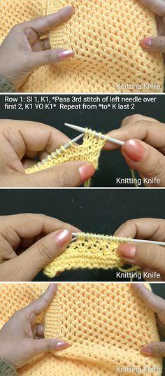 Lovely Mesh Stitch Knitting Pattern   CrochetBeja