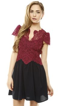 Lace Bodice Dress.