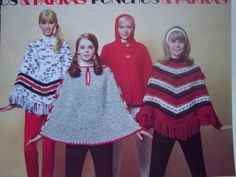 Poncho's!  Do you remember wearing these in the 7O's?  Too bad they are not fashionable today, they were fun to wear!  Better than sweaters!  Oh yeah!  I.remember!