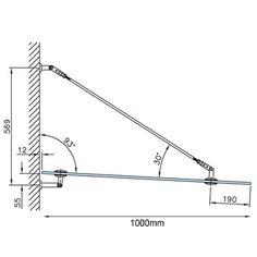 Glass Door Canopy Technical Data