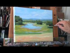 """Summer Pond"" Part 1 - Acrylic Country Pond Painting Demo - YouTube"
