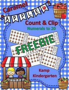 Caramel Apples Count and Clip Cards for... by Kamp Kindergarten | Teachers Pay Teachers