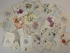 Vintage 1948 Assorted Lot of 28 Wedding Cards Mid Century Scapbooking Crafting