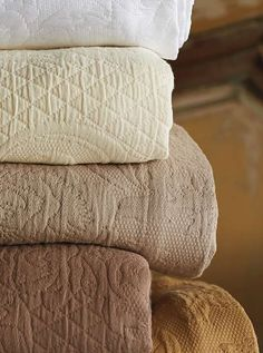Transform your master suite into a warm and inviting haven this winter with the Marchesca Matelasse Bedding Collection that features luxurious long-staple Egyptian cotton.