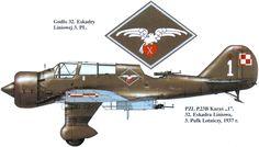 PZL.23B, 32 Eskadra Liniowa, 3.PL, Serial: 1, 1937. Artist: © Wojciech Sankowski